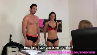 Femaleagent Seductive Threesome With Espanol Pair
