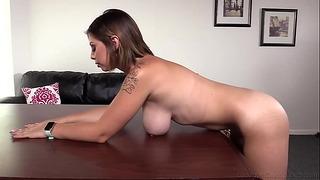 20yo Huge Titty Italian College Girl Aubree Bounces on That Rough Cock!